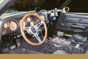 Interior of Rob Garnsworthy's Mustang Boss entered in the inaugural  Alpine Cup International Hillclimb