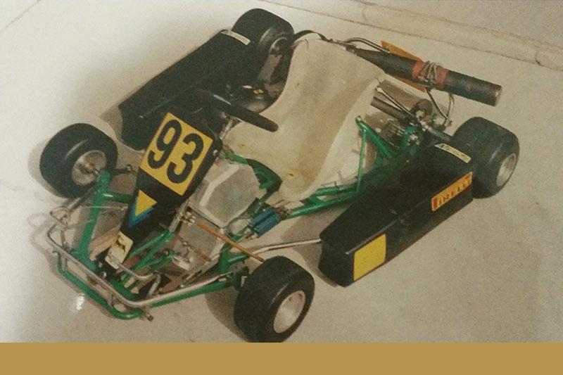 Darren's first go kart