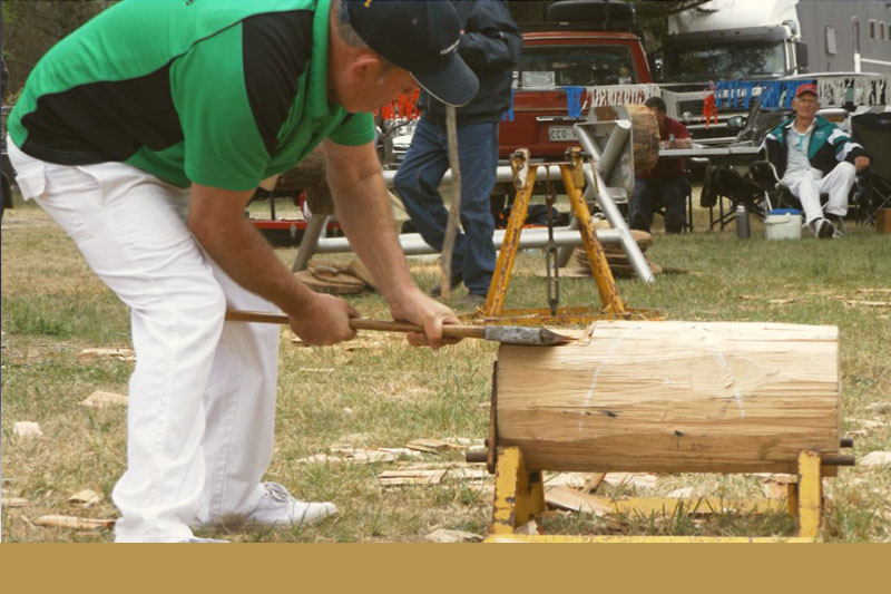 Wood chopping at last year's Omeo Show