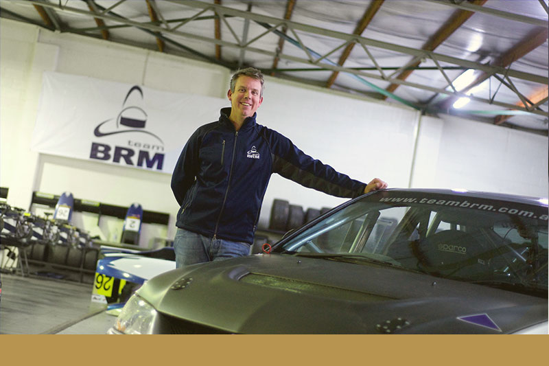Mark Rundle from Team BRM and his Evolution Lancer