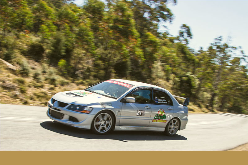 All-female crew Luana Garwood and Suzanne Atkins will be worth watching in their 2008 Mitsubishi Lancer Evolution VIII